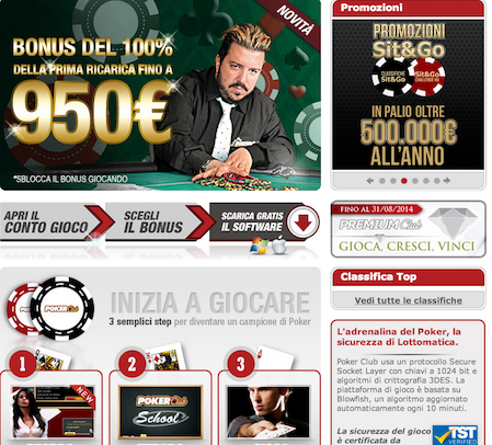 Poker Club Bonus e Offerte